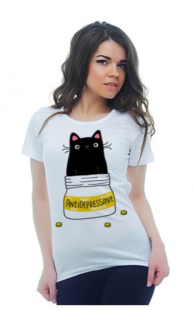 Женская футболка Антидепрессант