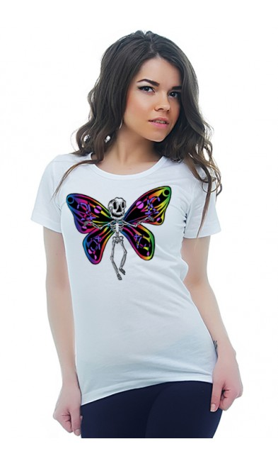 Женская футболка Скелет бабочки