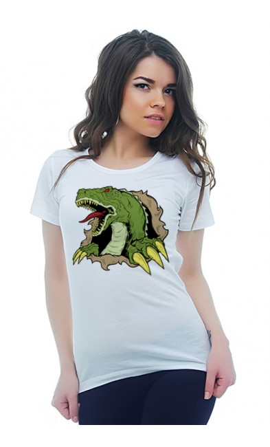 Женская футболка Дракон