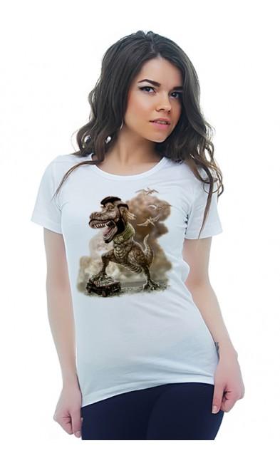 Женская футболка Тиранозавр
