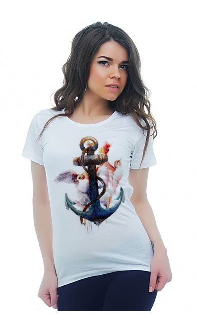 Женская футболка Якорь