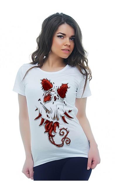 Женская футболка Разрывающий феникс