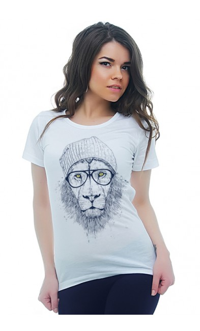 Женская футболка Львица - бабушка
