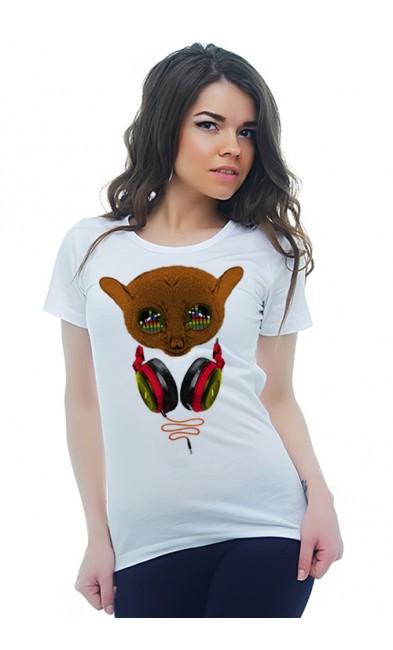 Женская футболка Меломан