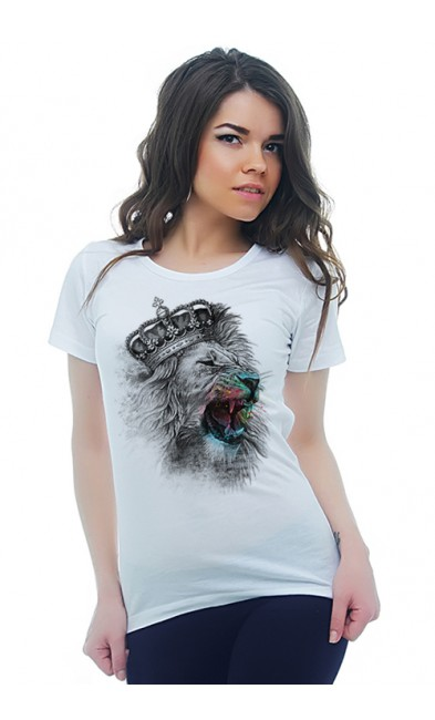 Женская футболка Король - лев