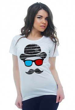 Шляпа, очки, усы