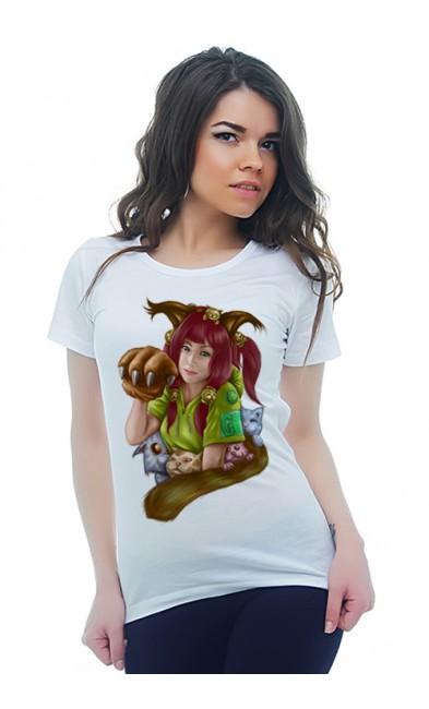 Женская футболка Кошатница