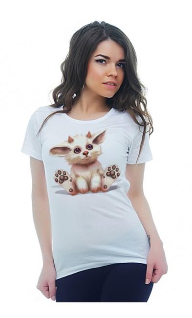Женская футболка Пушистый чертенок
