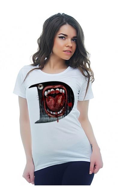 Женская футболка Пасть вампира