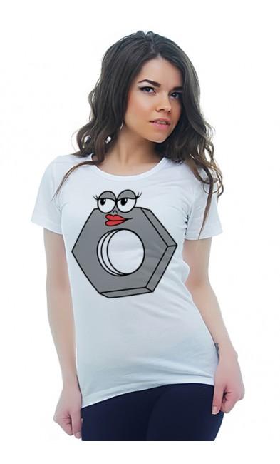 Женская футболка Гайка