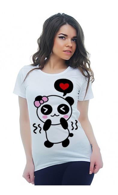 Женская футболка Влюбленная пандочка
