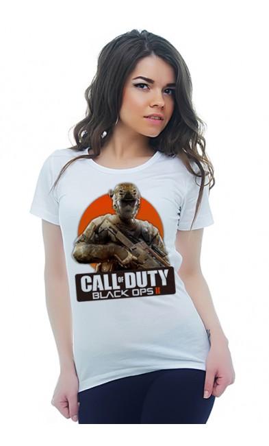 Женская футболка CALL of DUTY BLACK OPS ll