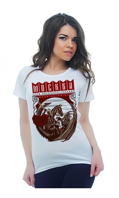 Женская футболка Москва