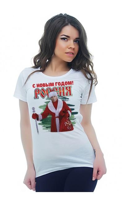 Женская футболка С Новым Годом! Россия