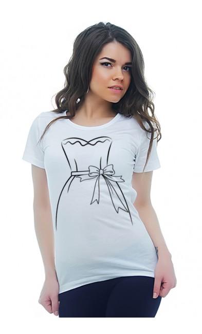 Женская футболка Платье