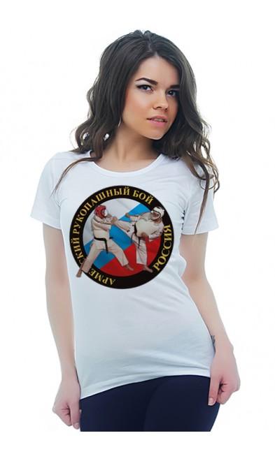 Женская футболка Армейский рукопашный бой Россия