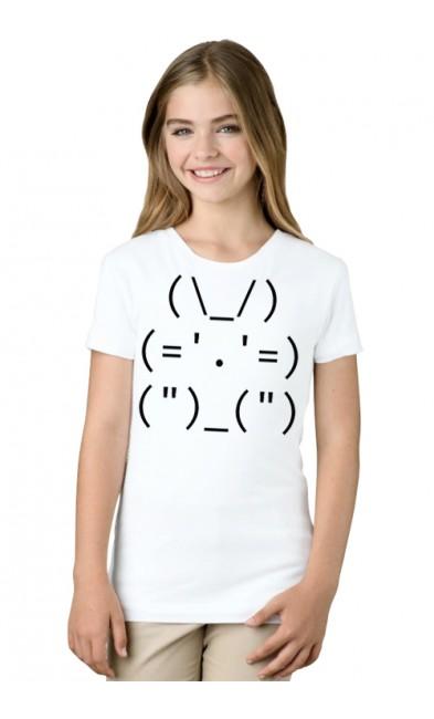 Детская футболка Админский кролик