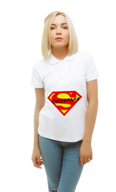 Женская поло Супермама