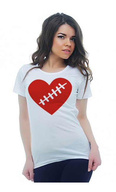 Женская футболка Сердце со шрамом