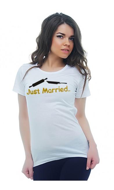 Женская футболка Just Married