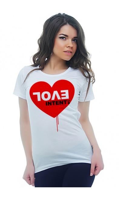 Женская футболка Love intent
